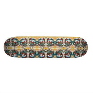 Plateau De Skateboard Motif reflété de têtes de lion