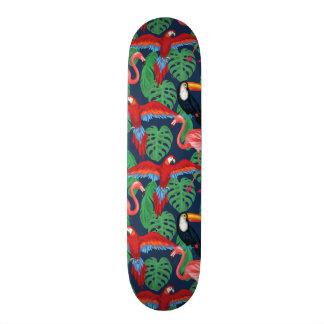 Plateau De Skateboard Oiseaux tropicaux dans des couleurs lumineuses