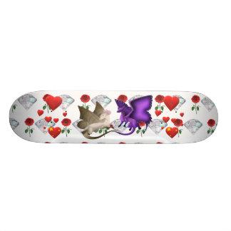 Plateau De Skateboard Planche à roulettes de diamant rose de coeur de