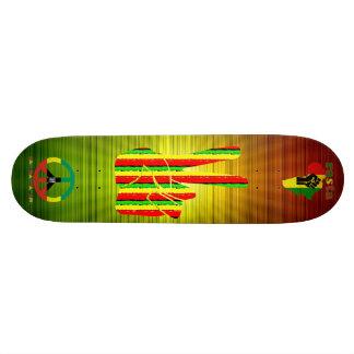 Plateau De Skateboard Planche à roulettes de reggae de Rasta