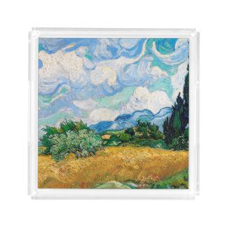 Plateau En Acrylique Champ de blé avec des cyprès par Vincent van Gogh