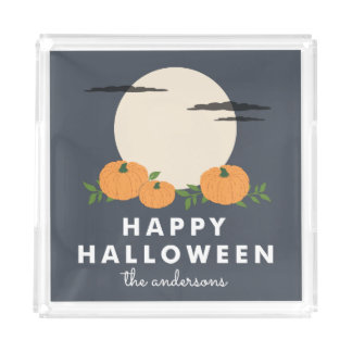 Plateau En Acrylique Citrouille Halloween personnalisé par correction