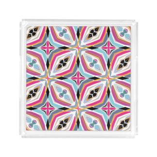 Plateau En Acrylique Conception unique de motif