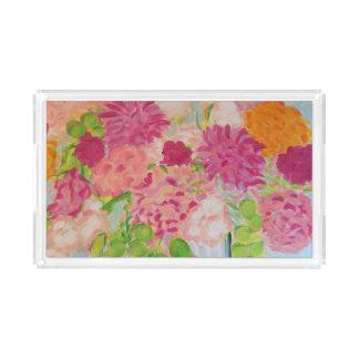Plateau En Acrylique Fleurs pour Mary Ann