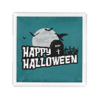 Plateau En Acrylique Halloween heureux