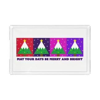 Plateau En Acrylique Joyeux et lumineux arbre de Noël génial