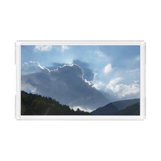 Plateau En Acrylique rayons et nuages