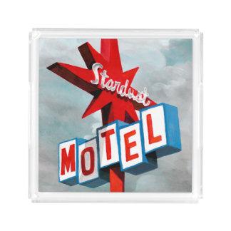 Plateau En Acrylique Signe de motel de chimères