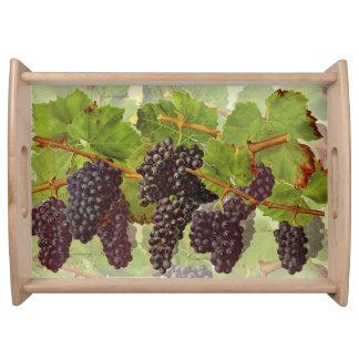 Plateau Grand Service-Plateau de raisins pourpres (vous