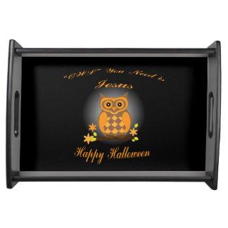 Plateau Hibou de Halloween