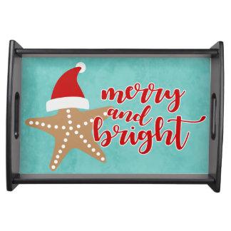 Plateau Joyeuses et lumineuses étoiles de mer de Père Noël