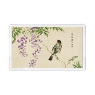 Plateau lilas vintage japonais de moineau