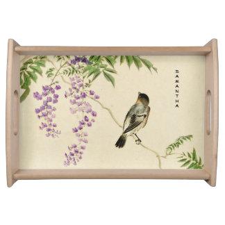 Plateau lilas vintage japonais de portion de