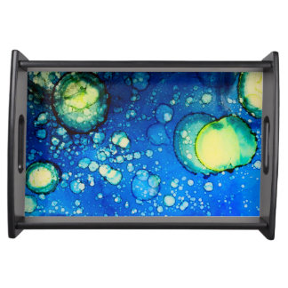 Plateau Peinture étoilée d'encre d'alcool de ciel
