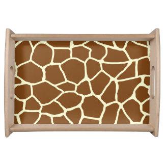Plateau Poster de animal sauvage de motif de girafe