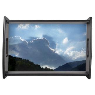 Plateau rayons et nuages