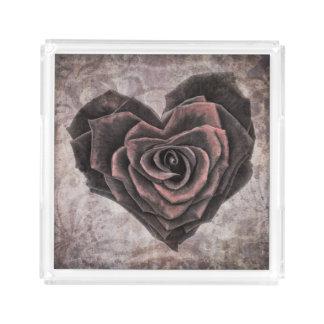 plateau rose de portion de coeur de goth