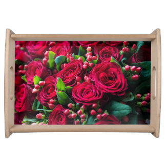 Plateau Roses rouges