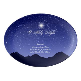 Plateau saint d'ovale de nuit d'O