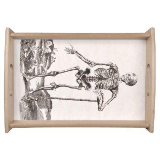 Plateau Squelette vintage drôle