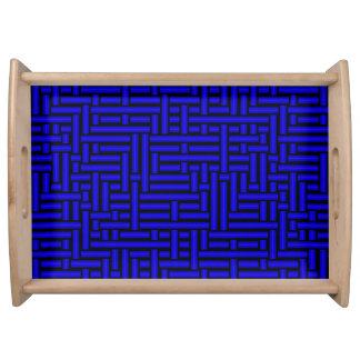 Plateau tubes 3D bleu-foncé tissés métalliques servant le