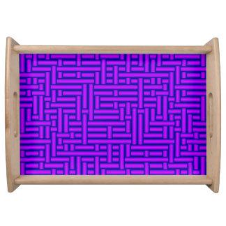 Plateau tubes 3D violets vifs tissés métalliques servant