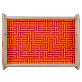Plateau tubes oranges tissés métalliques de la carotte 3D