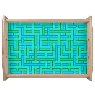 Plateau tubes tissés métalliques de la turquoise 3D