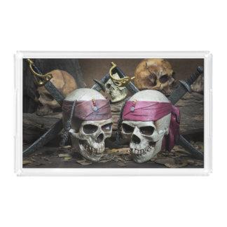 Plateaux de crânes de pirate