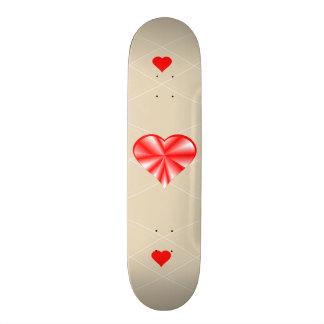 Plateaux De Skate Coeur brillant rouge