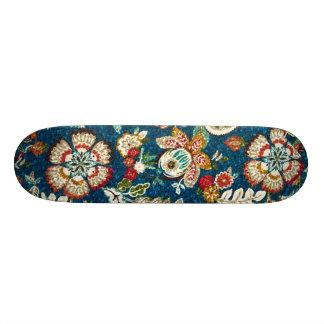 Plateaux De Skate Effet de scintillement floral sur bleu-foncé