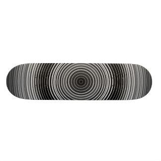 Plateaux De Skate Motif élégant noir et blanc contemporain