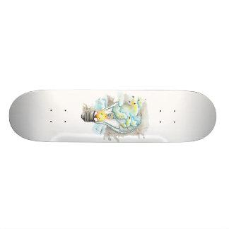 Plateaux De Skateboards Customisés Ampoule magique