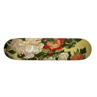 Plateaux De Skateboards Customisés Beaux-arts de Japonais de Hokusai de pivoines et