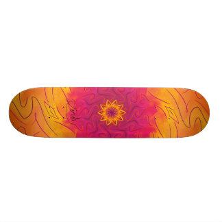 Plateaux De Skateboards Customisés Oeillet personnalisable (spirograph psychédélique)