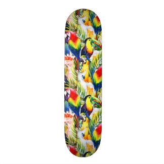 Plateaux De Skateboards Customisés Perroquets et palmettes