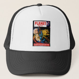 Platine blond et son ami de monstre casquette