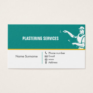 Plâtrage de la carte d'entreprise de services