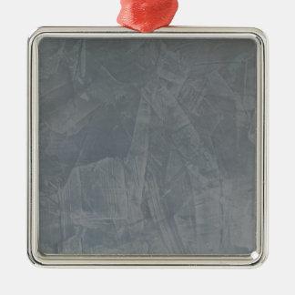 Plâtre vénitien de gris d'ardoise ornement carré argenté