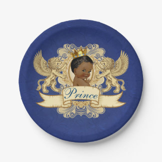 Plats africains de baby shower de prince Royal Assiettes En Papier