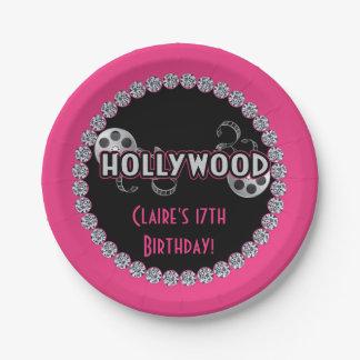 Plats de fête d'anniversaire de Hollywood Assiettes En Papier