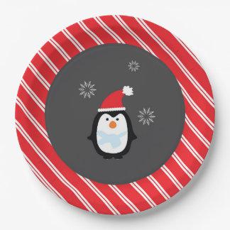Plats de pingouin de plaque à papier du pays des assiettes en papier
