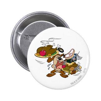 Plats de thanksgiving de Taz Badges