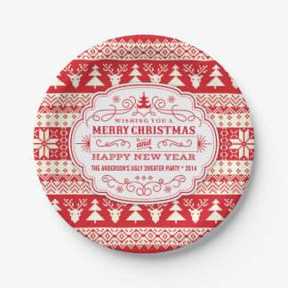 Plats laids faits sur commande de fête de Noël de Assiettes En Papier