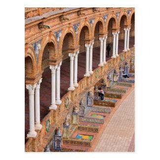 Plaza de Espana Colonnade en Séville Carte Postale
