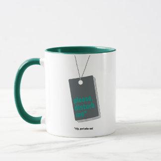 Please, disturb me* – texte personnalisable mugs