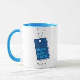 Please, make a noise* – texte personnalisable mugs