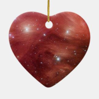 Pleiades rose ornement cœur en céramique