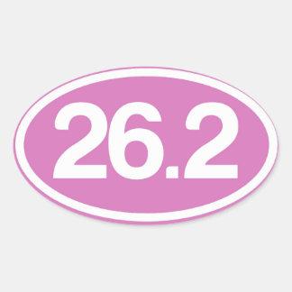 Plein autocollant de marathon du rose 26,2