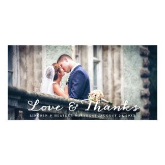 Plein carte photo horizontal de Merci de mariage Photocartes